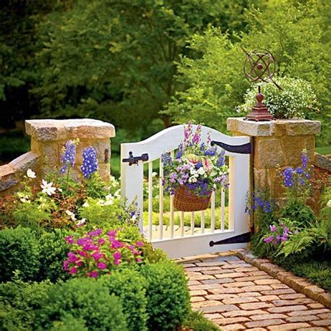decorated chaos garden gate inspiration for my side yard