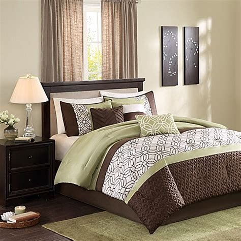 green comforter queen buy madison park briggs 7 piece queen comforter set in