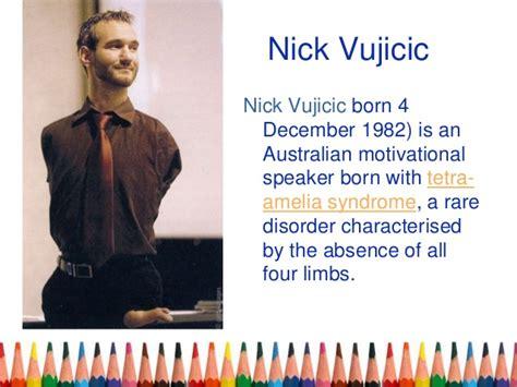 Nick Vujicic Biography Ppt | english ppt