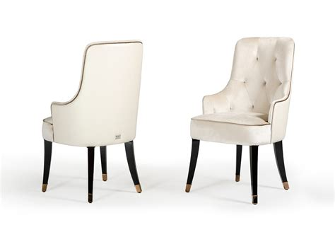 White Fabric Chair by A X Larissa Modern White Fabric Dining Chair