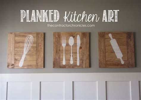 ana white planked kitchen art feature by the contractor chronicles diy projects