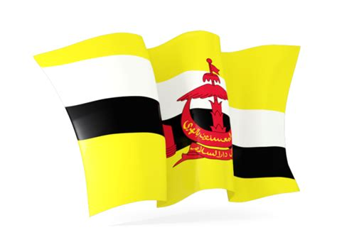 icon design brunei waving flag illustration of flag of brunei