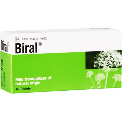 Biral Mild Tranquillizer 40 Tablets   Clicks