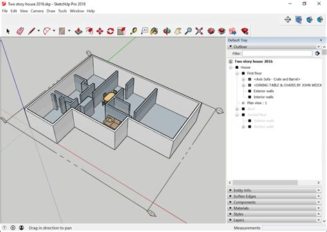 sketchup layout hide section plane working with hierarchies in the outliner sketchup help