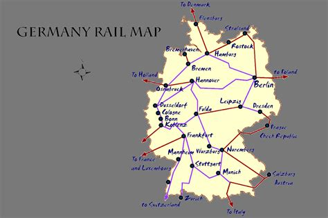 trains germany map germany rail map and transportation guide