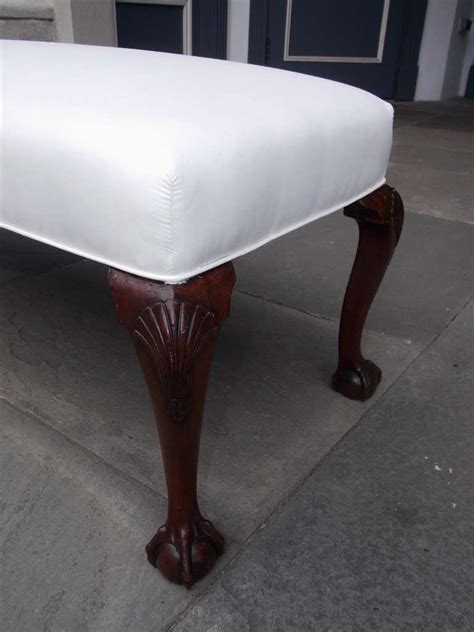 knee bench english mahogany upholstered shell knee bench circa 1840 at 1stdibs