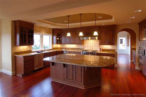 pictures kitchens traditional dark wood kitchens cherry color