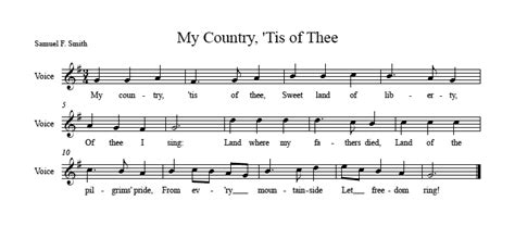 printable lyrics my country tis of thee audition song for joseph announced union street players