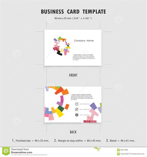 business card size template abstract creative business cards design template size