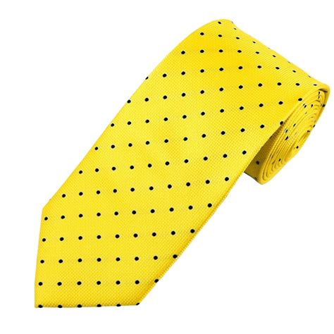 Polka Tie yellow black polka dot silk tie from ties planet uk