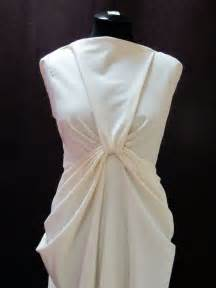 How To Do Draping Draping On The Stand Draped Dress Design Moulage