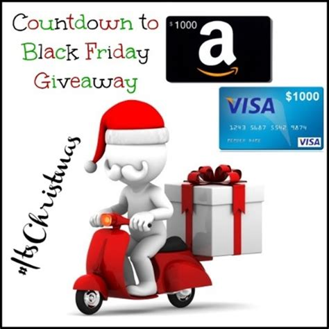 Amazon Giveaway Black Friday - win 1000 visa or amazon gift card itschristmas giveaway