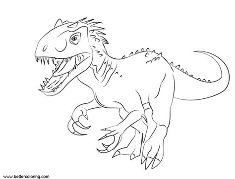 jurassic world fallen kingdom coloring pages indomius rex