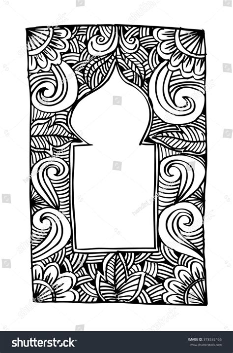 doodle islamic rug for a islamic prayer doodle style stock vector
