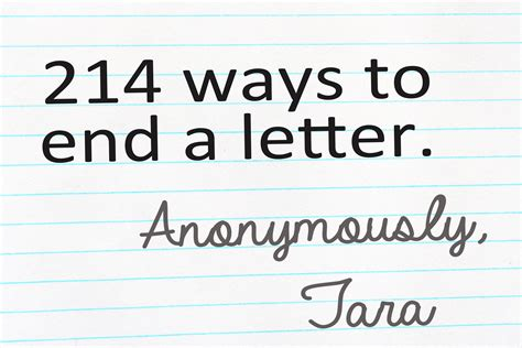 ways to end a letter 214 ways to end a lettermamachee 1704