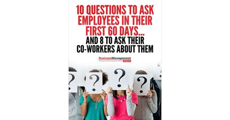 10 questions to ask employees in their 60 days