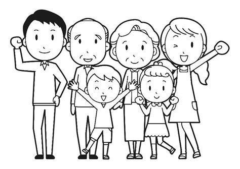 juegos de familia para colorear imprimir y pintar dibujo para colorear familia img 30253