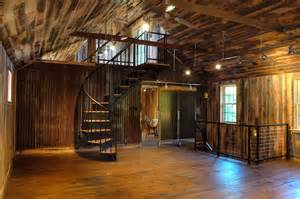 Small Barns Turned Into Homes - 20 unique barndominium designs salter spiral stair