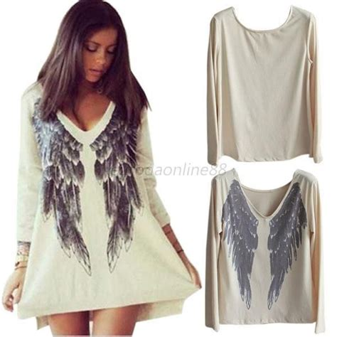 Sleeve Wing Printed Top trendy oversized sleeve dresses