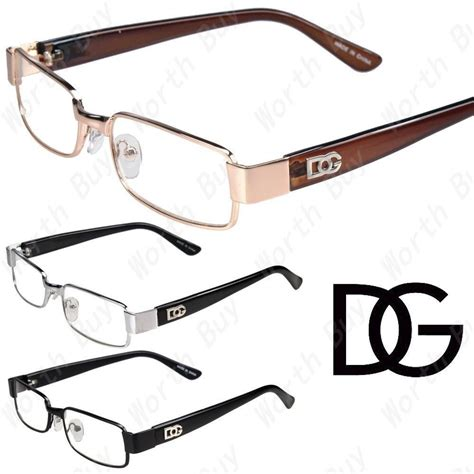 new womens mens dg clear lens frames eyeglasses designer