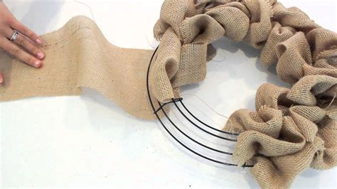 how to make a wreath with burlap how to make a burlap wreath 2 minute tutorial youtube