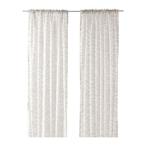 Myrten 01 Net Curtains 1 Pair White ferle curtains 1 pair white gray