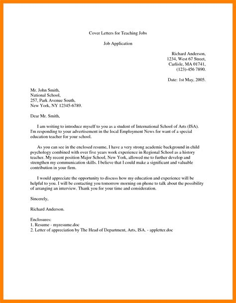 College Letter Of Introduction how to write an application letter for teaching position