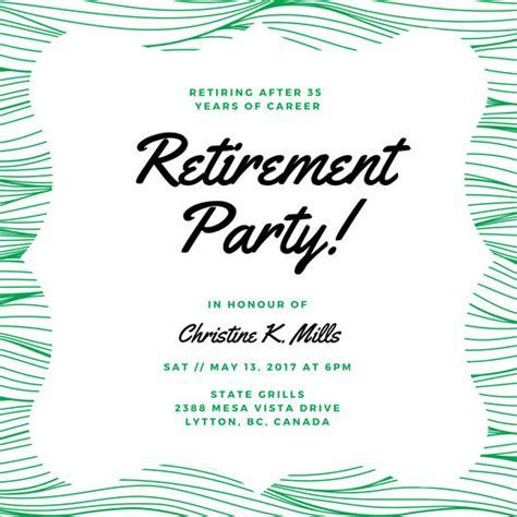 retirement party invitation dinner party invitation retirement