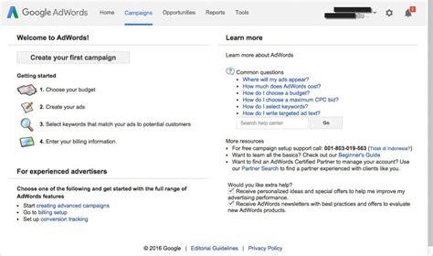 membuat akun google dengan cepat cara daftar google adwords dengan mudah tips trik
