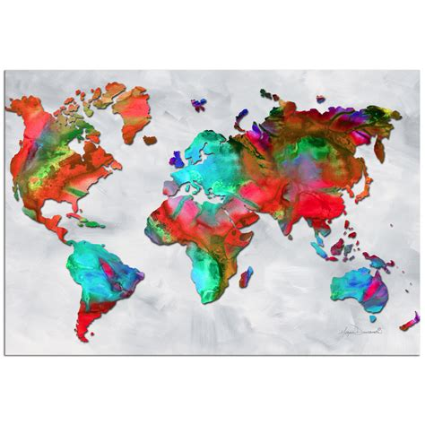 prints for sale colorful world map of color v2 5 rainbow map artwork