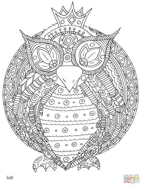 intricate owl coloring pages circles and rosettes rosette intricate patterns coloring