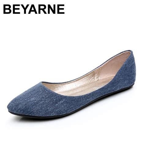 Ballerina Style Ballet Flats by Beyarne New Soft Denim Flats Blue Fashion High