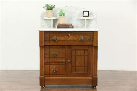 SOLD   Victorian Eastlake 1870 Antique Chest, Washstand or