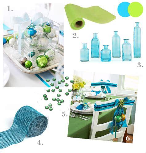 Decoration De Table Bleu Turquoise by Id 233 Es D 233 Coration Table De Noel