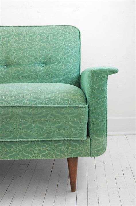 green vintage sofa on hold until april 26th vintage sea foam green sofa