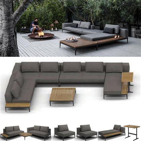 modular lounge seating furniture gloster grid modular seating 7 11 seater 6pc outdoor