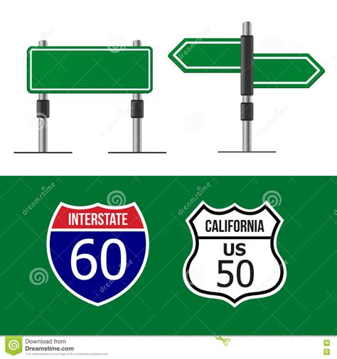 Road Sign Template Stock Vector Illustration Of Background 32591609 Sign Design Template