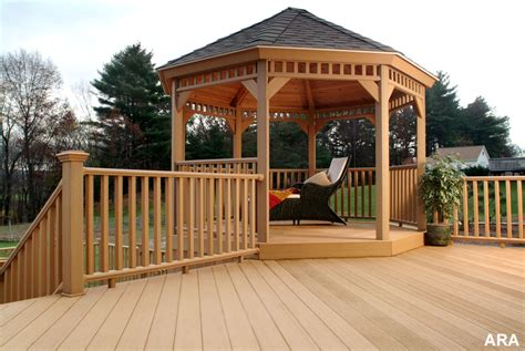 Gazebo On Patio Decks With Gazebos Pictures Pixelmari