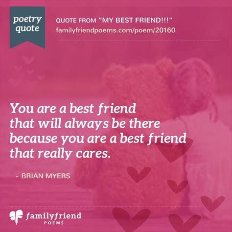 for best friend poem saying thanks to a great friend my best friend