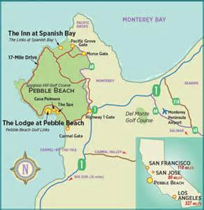 pebble map california pebble golf links rates prices green fees