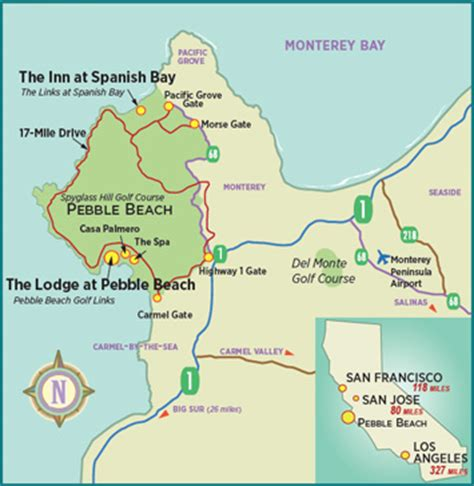 pebble california map pebble golf links rates prices green fees