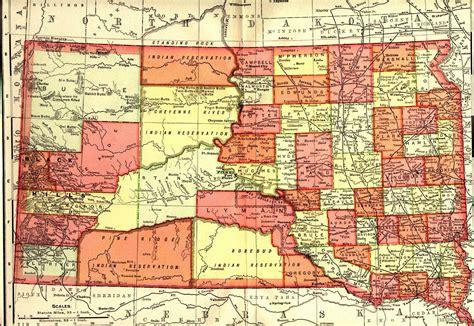 south dakota county map south dakota