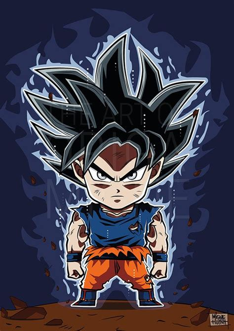 imagenes ultra chidas goku ultra instinct chibi by migne huynh dragon ball