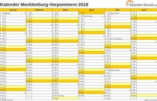 Kalender 2018 Zum Ausdrucken Mv Feiertage 2018 Meck Pomm Kalender