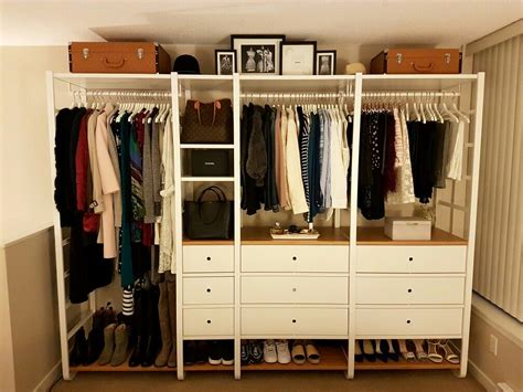 Elvarli Ikea Hack | the lovely ikea elvarli open wardrobe all of my clothing shoes and bags in vinb 228 r walk in