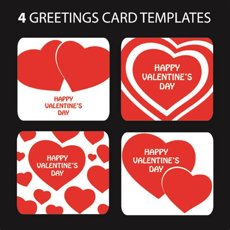 day heartshaped greeting card template vector
