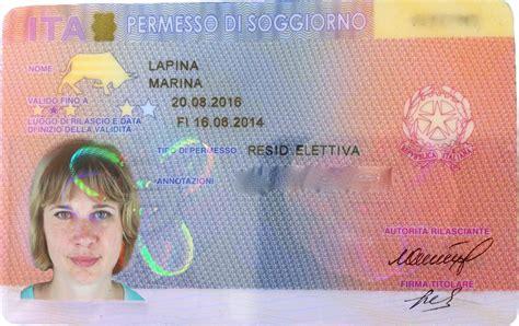 permesso di soggiorno italy the residence permit of italy 5 europe