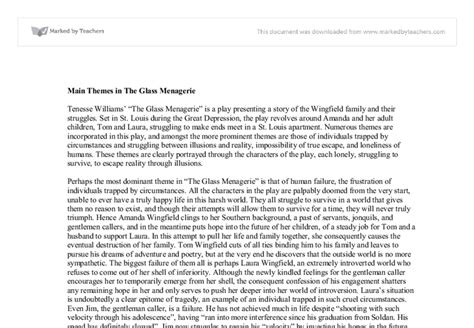 Tennessee Williams Essay by College Essays College Application Essays Essay On The Glass Menagerie