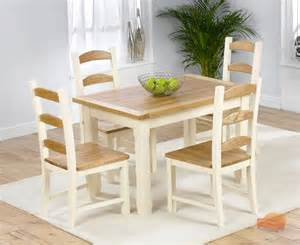 Pine And White Dining Table And Chairs Dining Sets