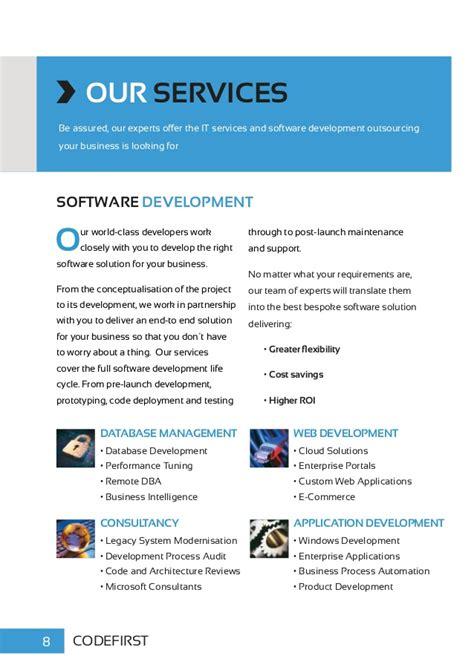 services brochure codefirst software development services brochure 2014
